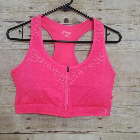 9d295fe064 Danskin Now Other - NWOT Danskin Hot Pink Zip Sport Bra XXL